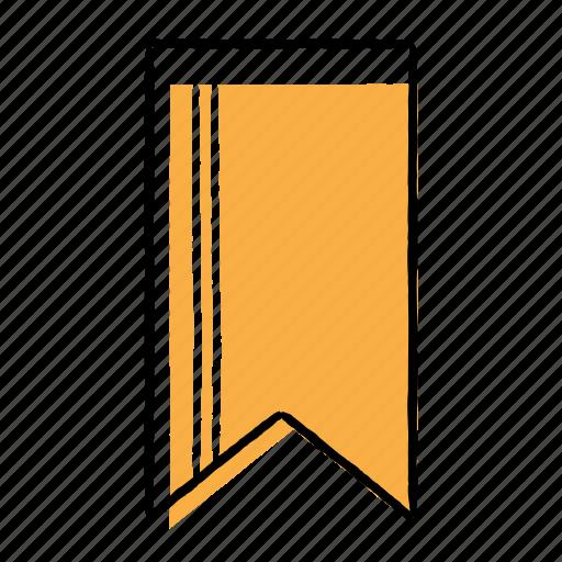 bookmark, favourite, hand-drawn, mark icon