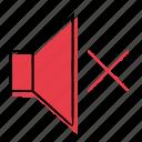 audio, hand-drawn, mute, sound icon