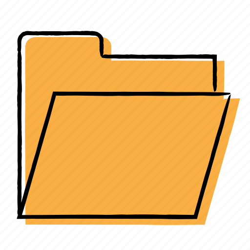 archives, file, folder, hand-drawn icon