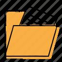 archives, file, folder, hand-drawn