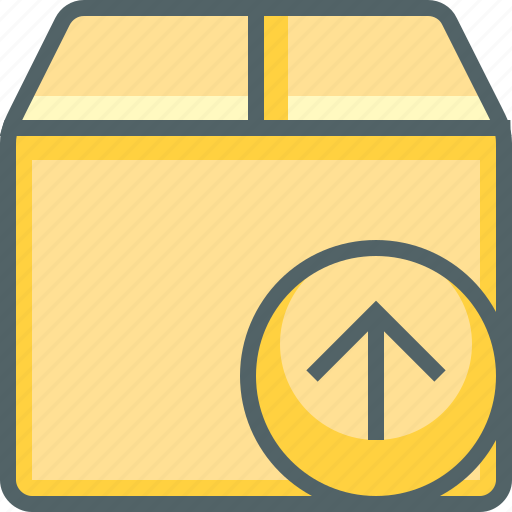 arrow, box, delivery, package, send, shipping, up icon