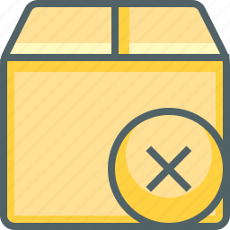box, cancle, delete, delivery, package, remove, shipping icon