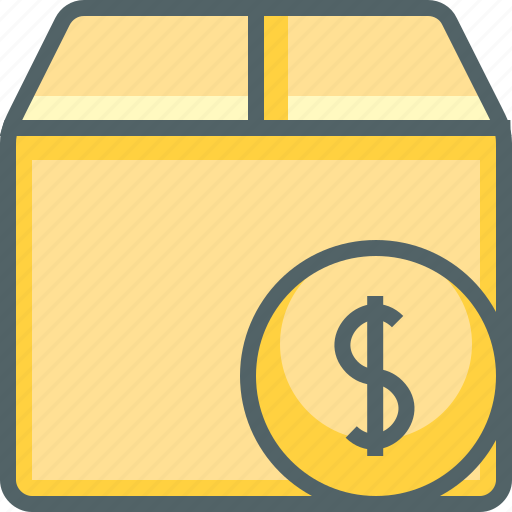 box, currency, delivery, dollar, money, package, shipping icon