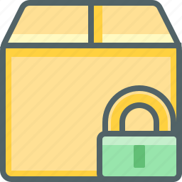 box, delivery, lock, package, protection, safe, shipping icon