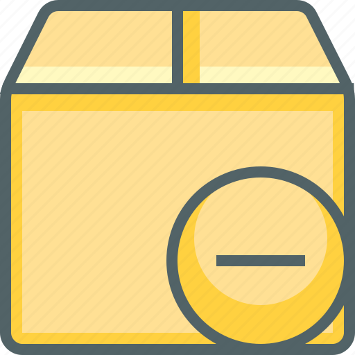 box, delete, delivery, minus, package, remoe, shipping icon