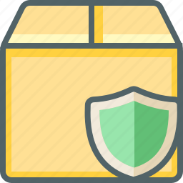 box, delivery, package, protection, safe, secure, shield icon