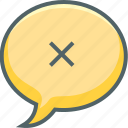 bubble, delete, message, cancle, close, communication, remove