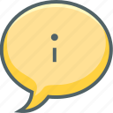 bubble, communication, help, info, infomation, message, support icon