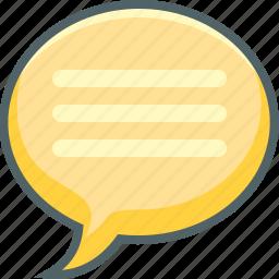 bubble, communication, letter, list, menu, message, text icon