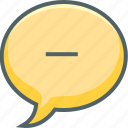 bubble, message, remove, cancle, close, communication, delete