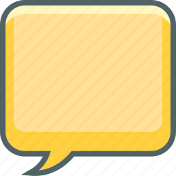 bubble, chat, communication, conversation, email, message, square icon