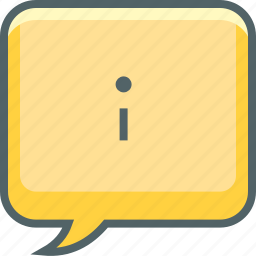 bubble, communication, info, infomation, message, square, support icon