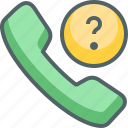 call, communication, help, phone, question, service, support icon