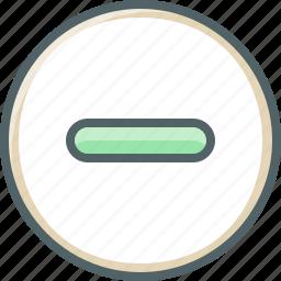 cancel, circle, close, delete, exit, minus, remove icon