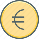 circle, euro, coin, currency, dollar, money, payment