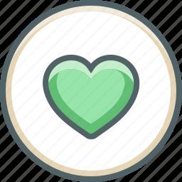 circle, favorite, favourite, heart, like, love, romantic icon