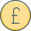 circle, pound, cash, coin, currency, financial, money