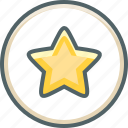 achievement, award, bookmark, circle, favorite, prize, star icon