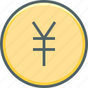 circle, yen, cash, coin, currency, japan, money