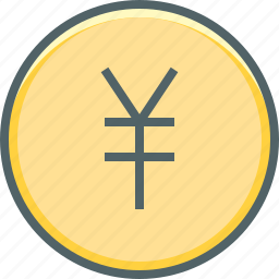 cash, circle, coin, currency, japan, money, yen icon
