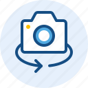 camera, interface, switch, user icon