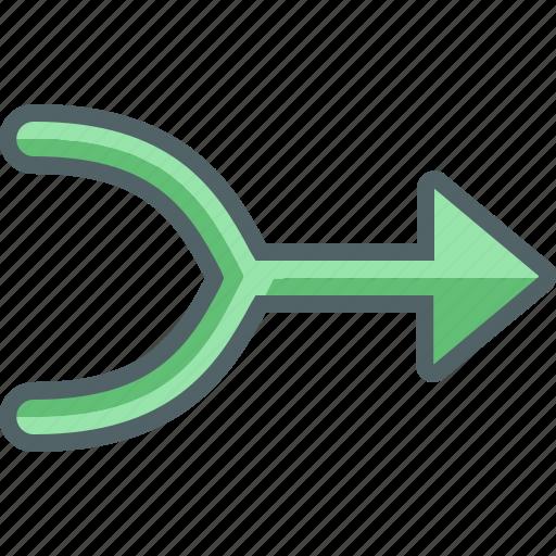 arrow, arrows, combine, direction, navigation icon