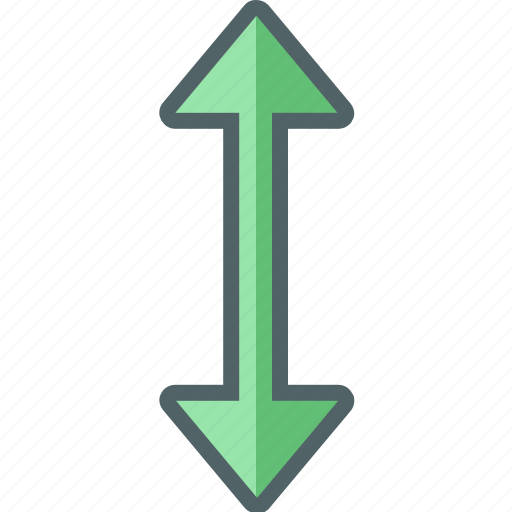 arrow, direction, down, horizontal, navigation, up icon