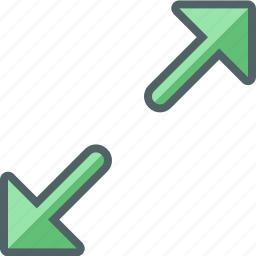 arrow, direction, max, maximize, navigation, out, zoom icon