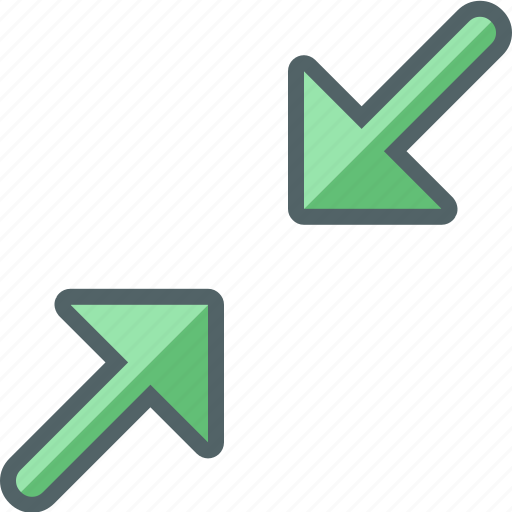 arrow, direction, in, minimize, navigation, zoom icon