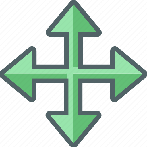 arrow, direction, move, navigation icon
