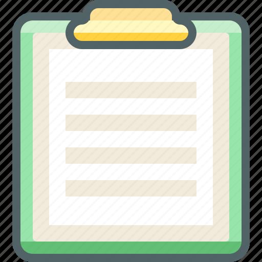 board, clip, paper, presentation, report, sheet, text icon