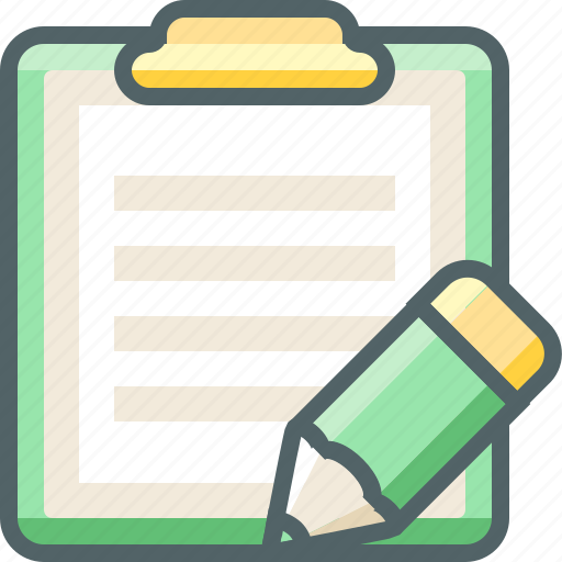 board, clip, design, edit, paper, pencil, write icon