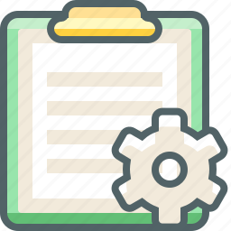 board, clip, configuration, paper, preferences, setting, tools icon