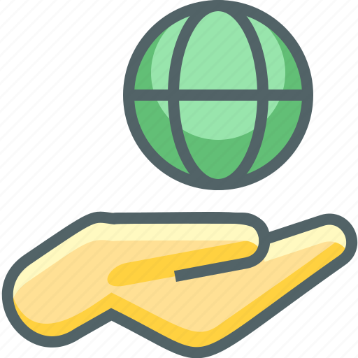 earth, finger, gestures, global, hand, international, world icon