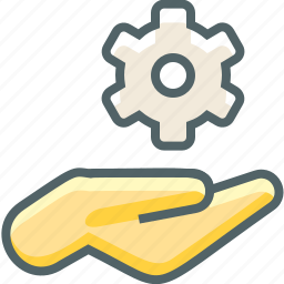 configuration, finger, gesture, hand, options, preferences, setting icon