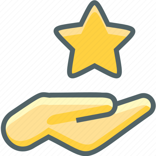 bookmark, favorite, favourite, finger, gestures, hand, star icon