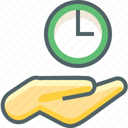 alarm, clock, fingers, gestures, hand, time, timer icon