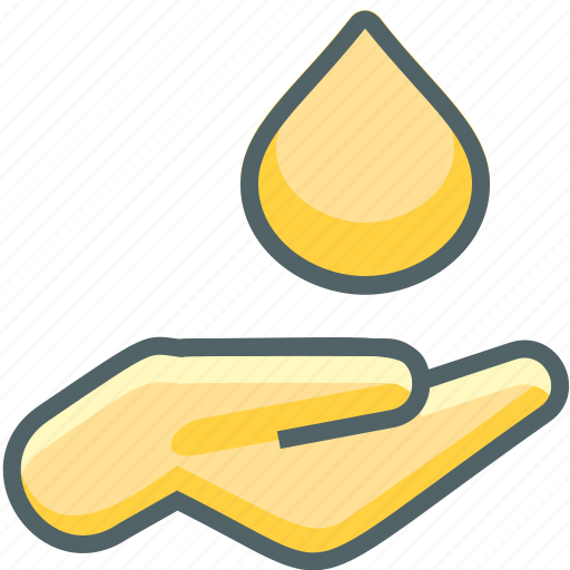 drop, fingers, gesture, hand, nature, water icon
