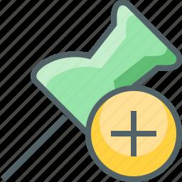 add, create, marker, new, pin, plus icon