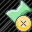 delete, pin, cancle, close, marker, remove