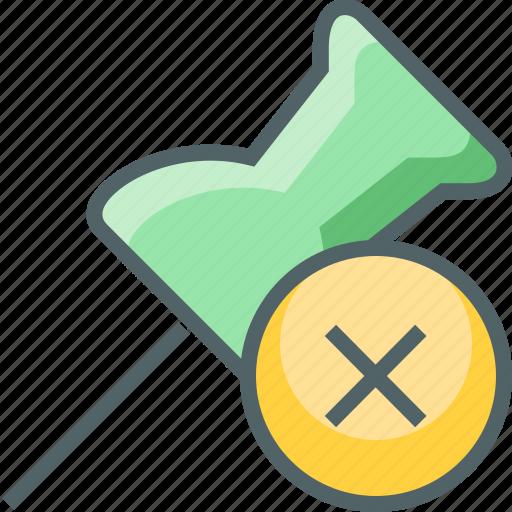 cancle, close, delete, marker, pin, remove icon