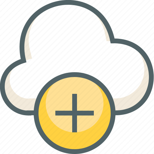 add, cloud, creat, forecast, new, plus, weather icon