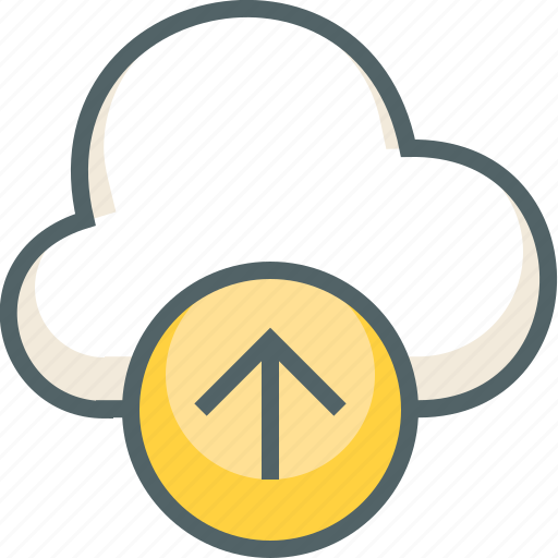 arrow, cloud, direction, forecast, up, upload, weather icon