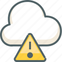 alert, caution, cloud, danger, forecast, warning, weather icon