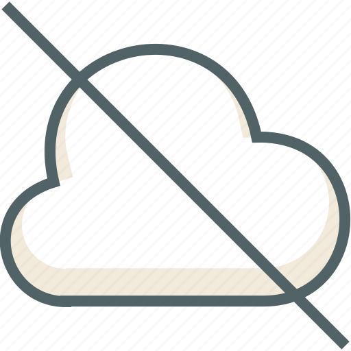 cancle, cloud, cloudy, delete, deny, forecast, weather icon