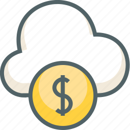 business, cloud, dollar, finance, forecast, money, weather icon