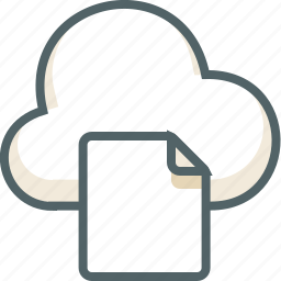 cloud, data, file, forecast, page, paper, weather icon