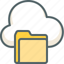 cloud, documents, file, folder, forecast, storage, weather icon