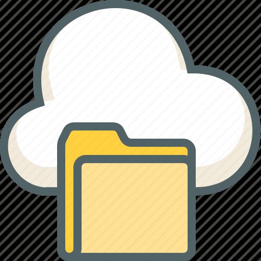 cloud, documents, file, folder, forecast, storage, weather icon