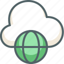 cloud, communication, global, globe, internet, network, weather icon